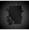 black balloons on transparent background vector image