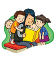 Book Reading vector image vector image