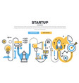 business startup process vector image vector image