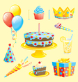 CAKES AND BIRTHDAY THEME vector image