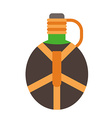 camping flask icon tourist bottle isolated on vector image vector image