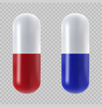 capsule pill isolated vector image vector image