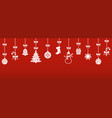 christmas hanging ornaments with shadow vector image vector image