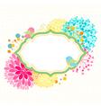 Colorful Flower Bird Garden Party Invitation vector image