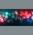 colorful vibrant bokeh banner with light effect vector image vector image