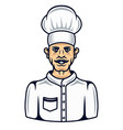 cook in cartoon colored style vector image vector image