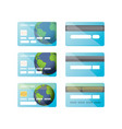 credit card icon set isolated vector image