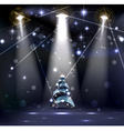 dark Christmas Stage vector image vector image