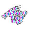 demographics spain mallorca island map vector image
