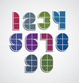 Digital style simple geometric numbers made with vector image vector image