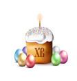 easter cake isolated on white background vector image vector image