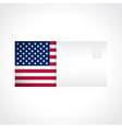 Envelope with American flag card vector image vector image
