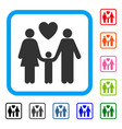 family love framed icon vector image vector image