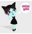 Fashion Beautiful Living Dead Zombie girl vector image vector image