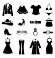 fashion icon set vector image vector image