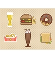 fast food icons set high detailed color vector image vector image