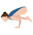 girl practicing yoga vector image