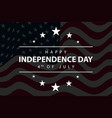 happy independence day lettering design element vector image