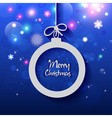 Happy New Year and Merry Christmas Ball greeting vector image vector image