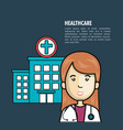 health professional avatar icon vector image