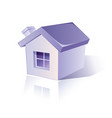 icon simple house vector image vector image
