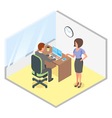 isometric of modern business office vector image