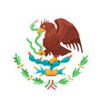 mexican coat arms vector image