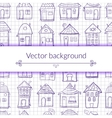 outine houses vector image vector image