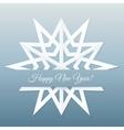 Paper Snowflake Postcard vector image