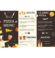 Pizza Menu Flat Template For Restaurant vector image vector image