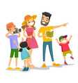 positive caucasian white family traveling together vector image vector image