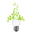 power saving leaves vector image vector image