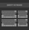 qwerty keyboard full set vector image