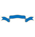ribbon blue sign 602 vector image vector image