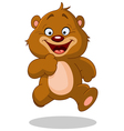 running teddy bear vector image