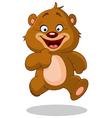 Running teddy bear vector image