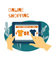 sale consumerism online shoping concept vector image vector image