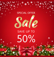 sale xmas poster vector image vector image