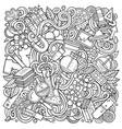 science hand drawn doodles vector image