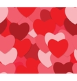Seamless love background with red hearts vector image vector image