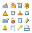 Set flat icons of web media internet mobile co vector image vector image