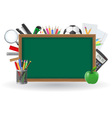 set icons school supplies 01 vector image vector image
