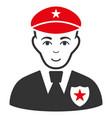 sheriff flat icon vector image