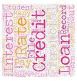 Simple Guide To Best Student Loans text background vector image vector image