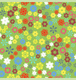 spring colored flower seamless pattern vector image vector image