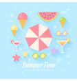 Summer flat card vector image vector image