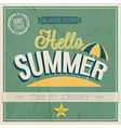 TEXT HELLO SUMMER vector image vector image
