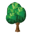 tree low poly isolated icon design vector image