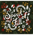 vignette of autumn leaves vector image vector image