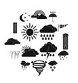 weather set icons simple style vector image
